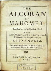 The Alcoran of Mahomet 1649